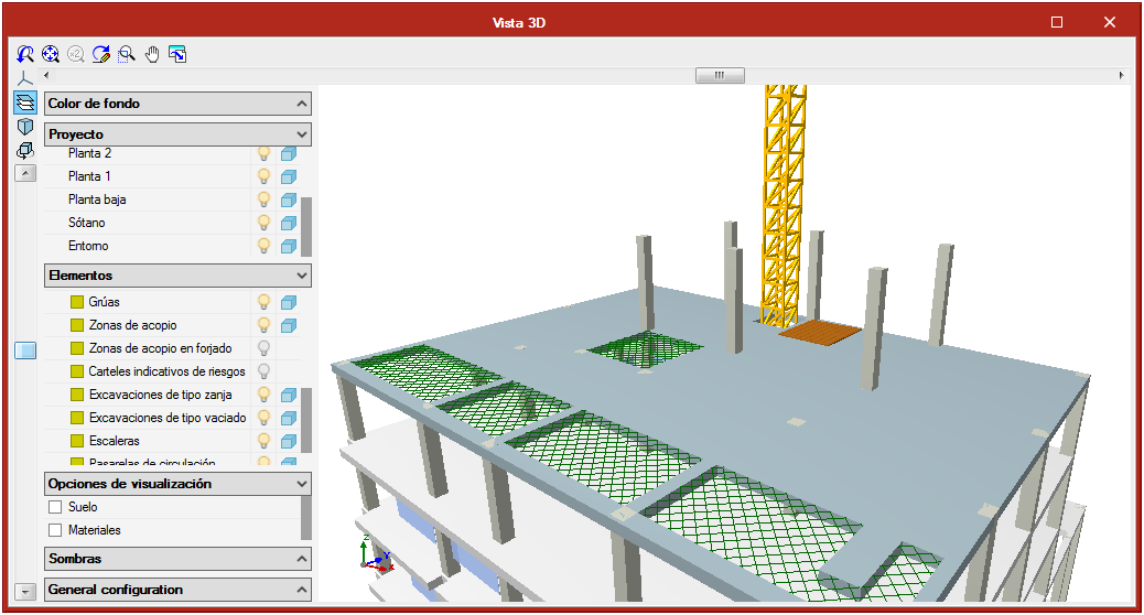 Open BIM Health and Safety. Collective protection systems. Protection for floor slab openings