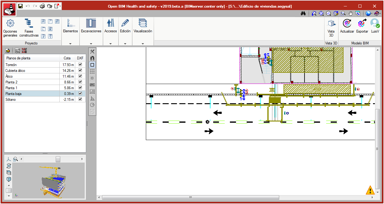 Open BIM Health and Safety. Collective protection systems. Perimeter fences