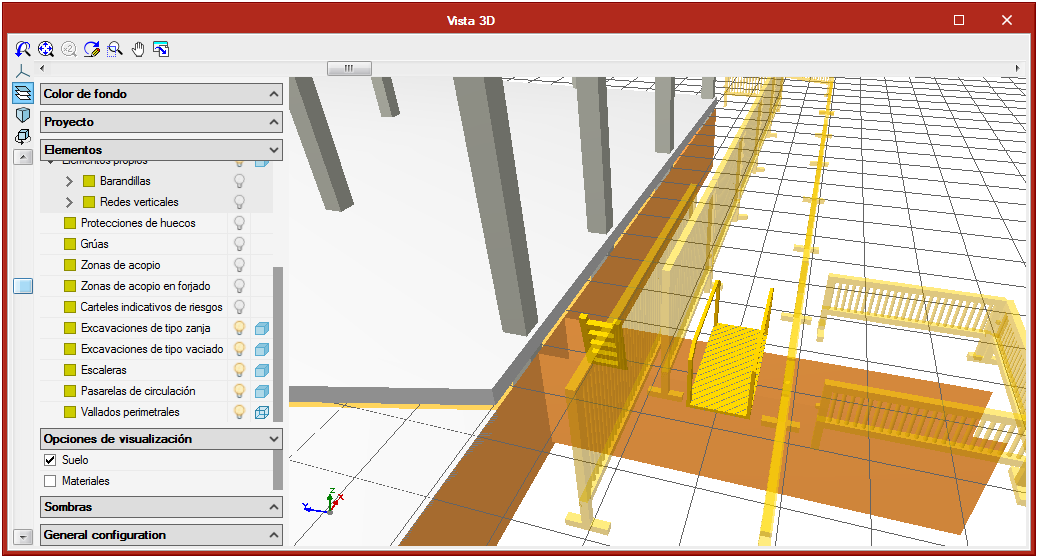Open BIM Health and Safety. Collective protection systems. Accesses